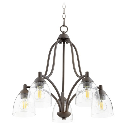 Quorum Lighting Quorum Lighting Barkley Oiled Bronze Chandelier 6369-5-286