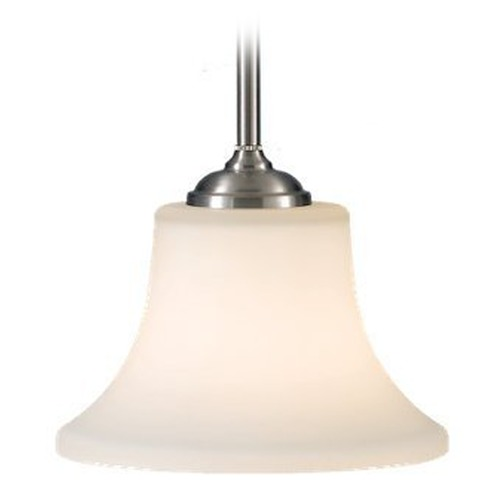 Feiss Lighting Modern Mini-Pendant Light with White Glass P1117BS