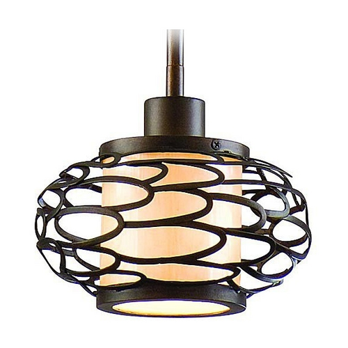 Corbett Lighting Modern Mini-Pendant Light with Beige / Cream Shade 79-41