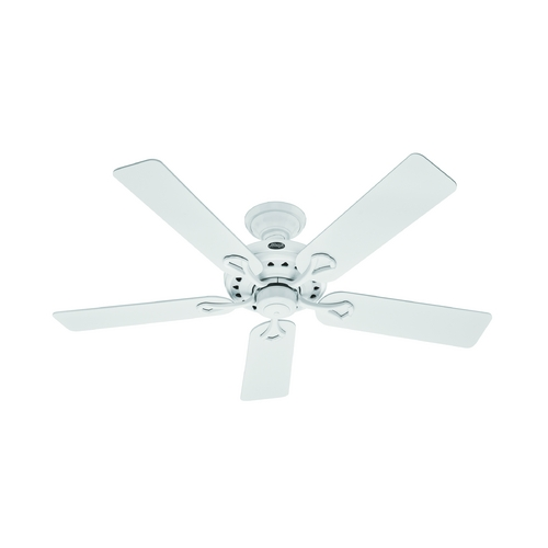 Hunter Fan Company Hunter Fan Company the Savoy White Ceiling Fan Without Light 53103