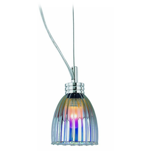 Lite Source Lighting Low Voltage Mini-Pendant Light with White Glass LS-19861