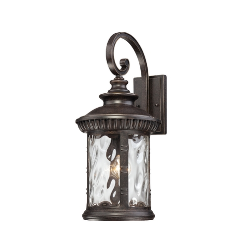 Quoizel Lighting Outdoor Wall Light with Clear Glass in Imperial Bronze Finish CHI8411IB