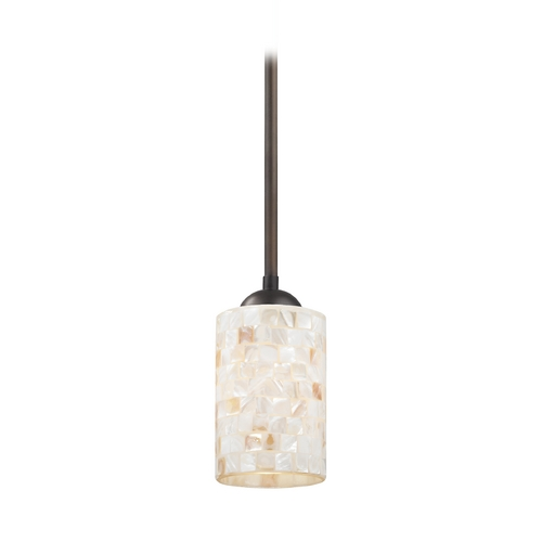 Design Classics Lighting Mini-Pendant Light with Mosaic Glass 581-220 GL1026C