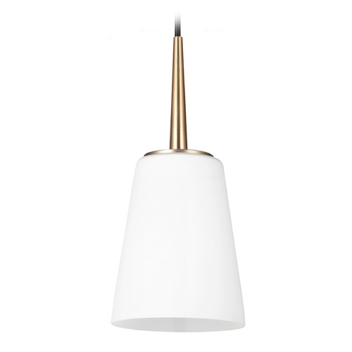 Sea Gull Lighting Sea Gull Lighting Driscoll Satin Bronze Mini-Pendant Light with Empire Shade 6140401-848