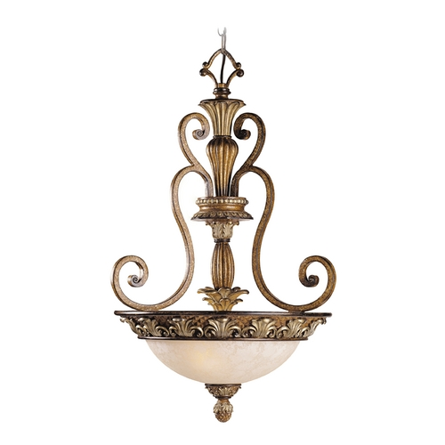 Livex Lighting Livex Lighting Savannah Venetian Patina Pendant Light with Bowl / Dome Shade 8454-57