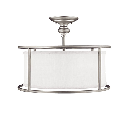 Capital Lighting Capital Lighting Midtown Matte Nickel Semi-Flushmount Light 3914MN-459