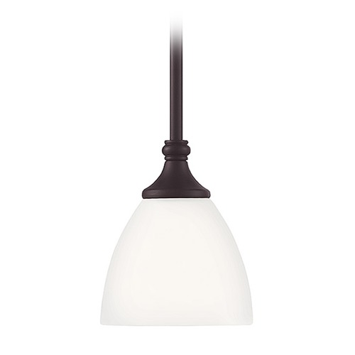Savoy House Savoy House Lighting Herndon English Bronze Mini-Pendant Light with Bowl / Dome Shade 7-1010-1-13