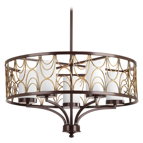 Progress Lighting Progress Lighting Cirrine Antique Bronze Pendant Light with Cylindrical Shade P4700-20