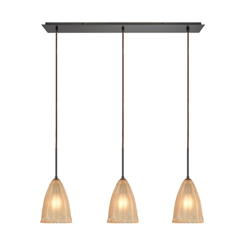 Elk Lighting Elk Lighting Calipsa Oil Rubbed Bronze Multi-Light Pendant with Bowl / Dome Shade 10439/3LP
