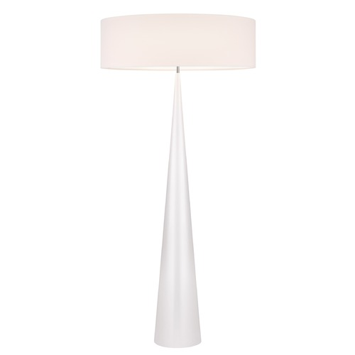Sonneman Lighting Sonneman Big Floor Cone Gloss White Floor Lamp with Drum Shade 6141.60OL