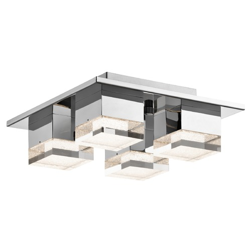 Elan Lighting Elan Lighting Gorve Chrome LED Flushmount Light 83602