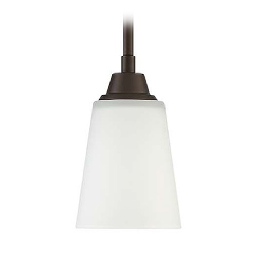 Craftmade Lighting Craftmade Lighting Grace Espresso Mini-Pendant Light with Bell Shade 41991-ESP