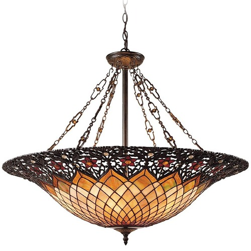 Quoizel Lighting Large Tiffany Pendant TF1901VB