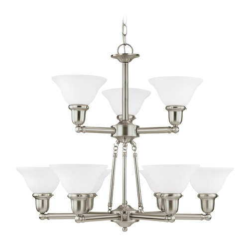 Sea Gull Lighting Sea Gull Lighting Sussex Brushed Nickel LED Chandelier 31062EN3-962