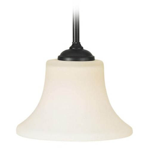 Home Solutions by Feiss Lighting Modern Mini-Pendant Light with White Glass P1117ORB