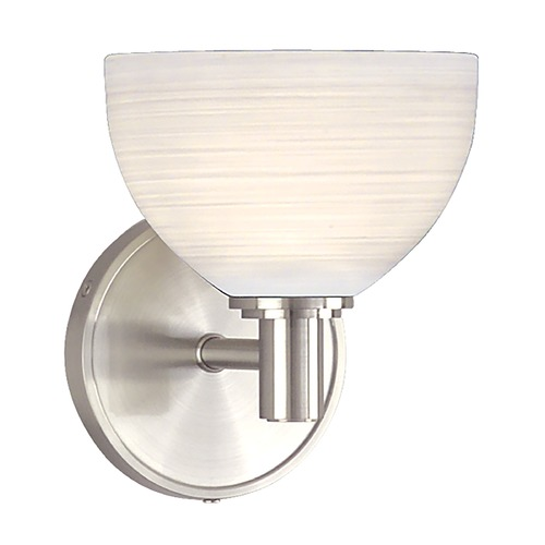 Hudson Valley Lighting Modern Sconce with White Glass in Satin Nickel Finish 1401-SN