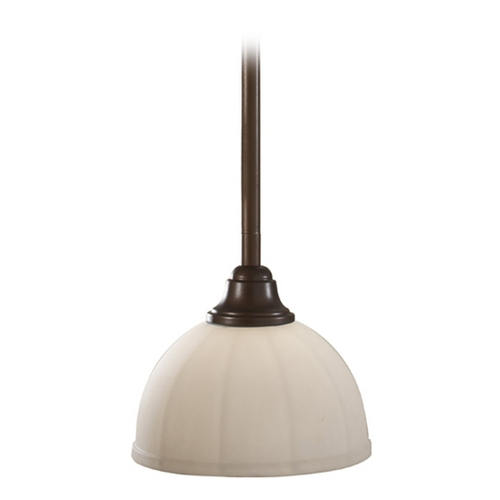 Home Solutions by Feiss Lighting Modern Mini-Pendant Light with White Glass P1216HTBZ