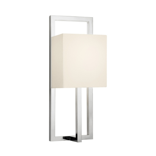 Sonneman Lighting Modern Sconce Wall Light with White Shade in Polished Nickel Finish 4441.35