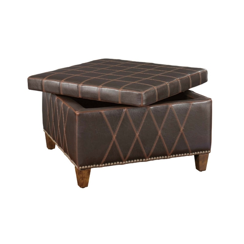 Uttermost Lighting Ottoman in Sable Brown Finish 23005