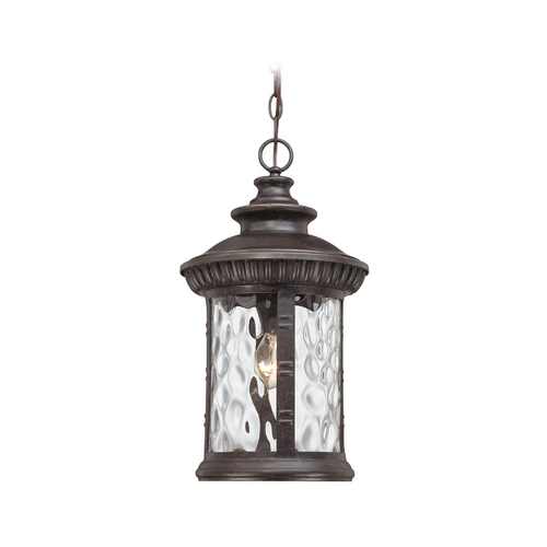 Quoizel Lighting Outdoor Hanging Light with Clear Glass in Imperial Bronze Finish CHI1911IB