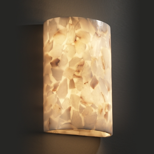 Justice Design Group Justice Design Group Alabaster Rocks! Collection Sconce ALR-8858