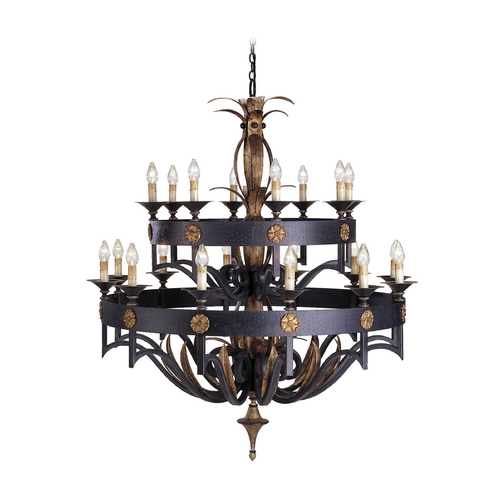 Currey and Company Lighting Chandelier in Zanzibar/gold Leaf Finish 9837