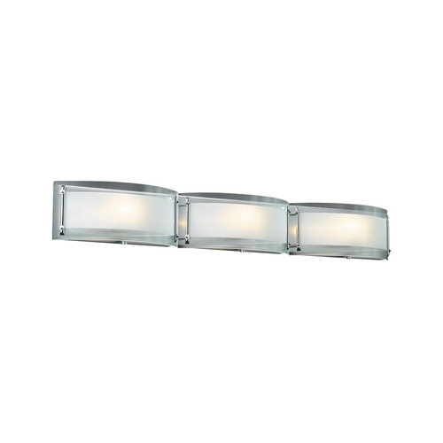 PLC Lighting Modern Bathroom Light with Clear Glass in Polished Chrome Finish 7836 PC