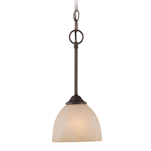 Craftmade Lighting Craftmade Raleigh Old Bronze Mini-Pendant Light with Bowl / Dome Shade 25321-OB