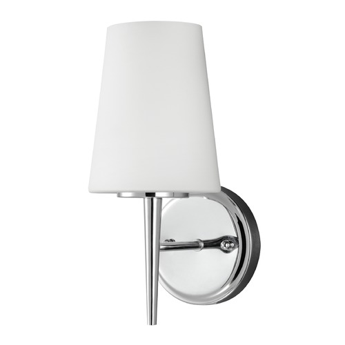 Sea Gull Lighting Mid-Century Modern Sconce Chrome Driscoll by Sea Gull Lighting 4140401-05