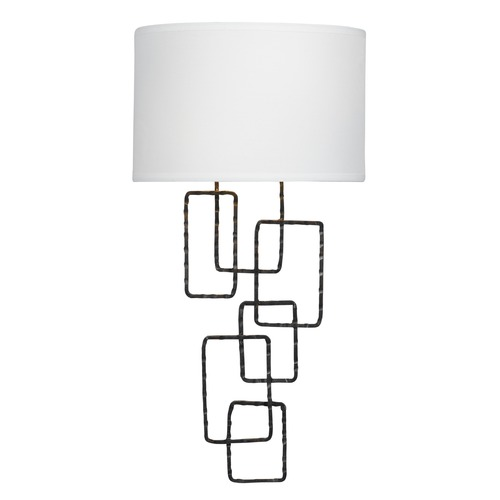 Crystorama Lighting Crystorama Lighting Lattice Raw Steel Sconce 322-RS
