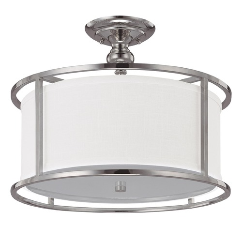 Capital Lighting Capital Lighting Midtown Polished Nickel Semi-Flushmount Light 3914PN-459