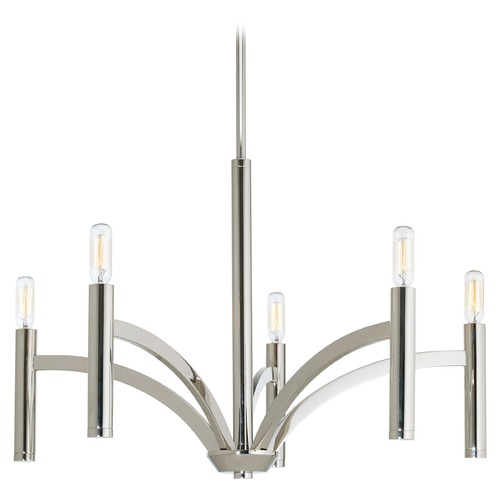 Progress Lighting Progress Lighting Draper Polished Nickel Chandelier P4718-104
