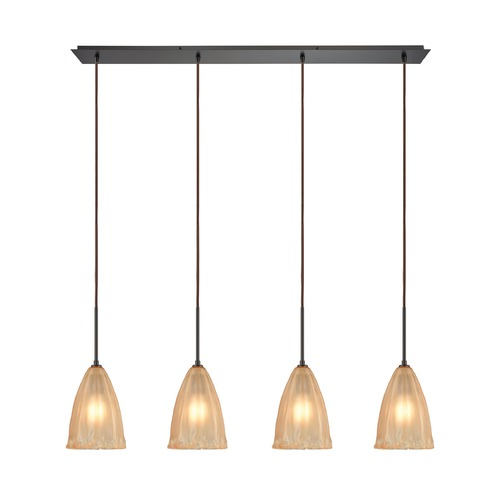 Elk Lighting Elk Lighting Calipsa Oil Rubbed Bronze Multi-Light Pendant with Bowl / Dome Shade 10439/4LP