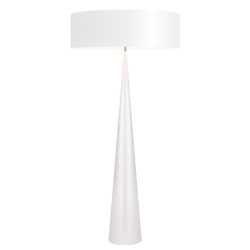 Sonneman Lighting Sonneman Big Floor Cone Gloss White Floor Lamp with Drum Shade 6141.60W