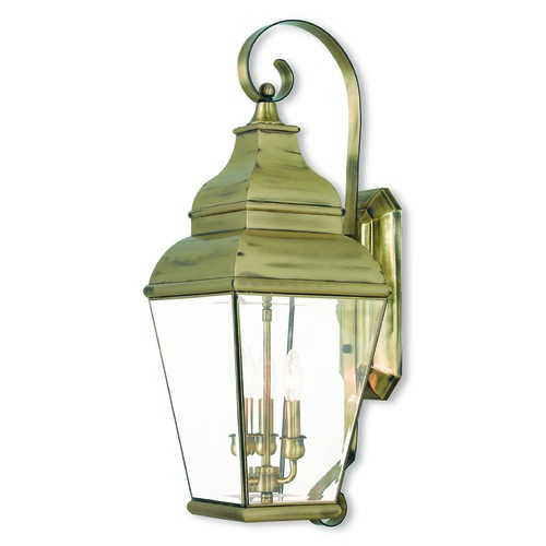 Livex Lighting Livex Lighting Exeter Antique Brass Outdoor Wall Light 2593-01