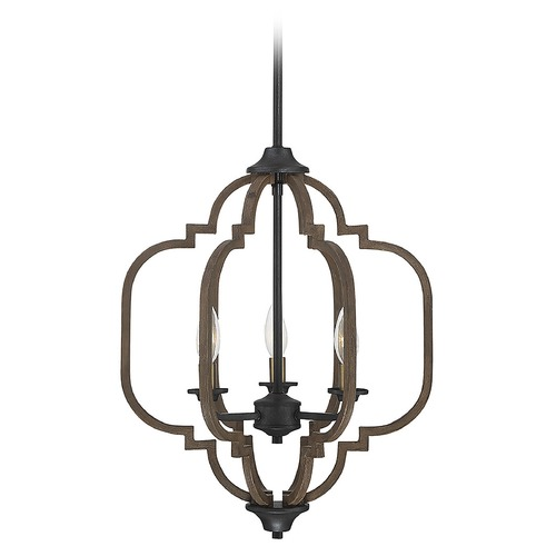 Savoy House Savoy House Lighting Westwood Barrelwood with Brass Accents Pendant Light 7-0306-3-96