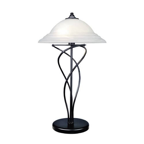 Lite Source Lighting Lite Source Lighting Majesty Black Table Lamp with Bowl / Dome Shade LS-3640BLK