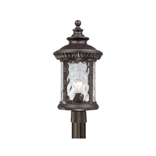 Quoizel Lighting Post Light with Clear Glass in Imperial Bronze Finish CHI9011IB