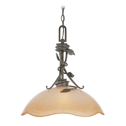 Designers Fountain Lighting Pendant Light with Beige / Cream Glass in Old Bronze Finish 95632-OB