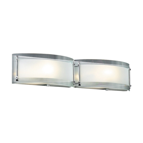PLC Lighting Modern Bathroom Light with Clear Glass in Polished Chrome Finish 7824 PC