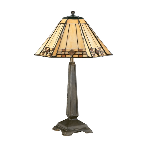Kenroy Home Lighting Accent Lamp with Art Glass in Bronze Finish 33041BRZ