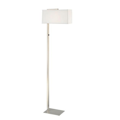 Design Classics Lighting Modern Floor Lamp with Rectangular Shade 6091-1-09 / SH7355  KIT