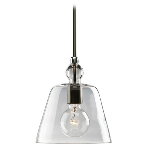 Progress Lighting Progress Vintage Style Mini-Pendant Light with Clear Glass Shade P5184-104