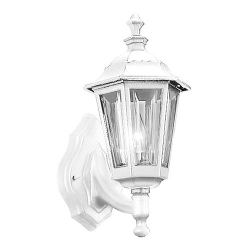 Progress Lighting Progress Outdoor Wall Light with Clear in White Finish P5826-30