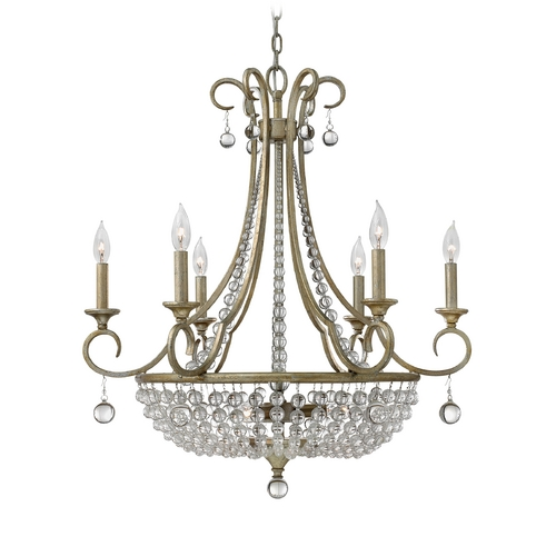 Frederick Ramond Pendant Light in Silver Leaf Finish FR43758SLF