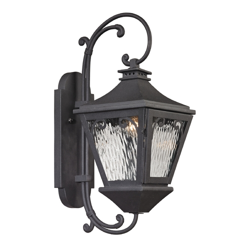 Elk Lighting Outdoor Wall Light with Clear Glass in Charcoal Finish 47092/1