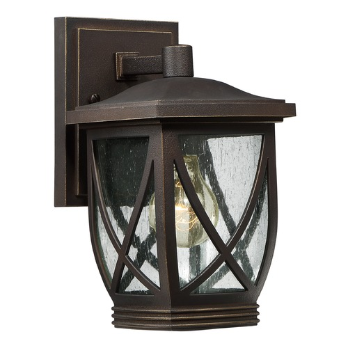 Quoizel Lighting Quoizel Tudor Palladian Bronze Outdoor Wall Light TDR8406PNFL