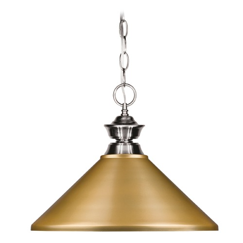 Z-Lite Z-Lite Pendant Lights Brushed Nickel Pendant Light with Coolie Shade 100701BN-MSG