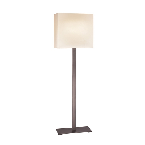 Sonneman Lighting Modern Floor Lamp with White Shades in Black Brass Finish 7023.51F
