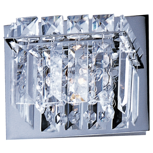 ET2 Lighting Modern Sconce Wall Light with Clear Glass in Polished Chrome Finish E23251-20PC